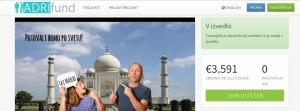 Adrifund spletna stran s projektom Fotoprikolice